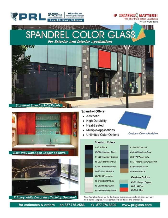 Architectural Spandrel Glass Colors