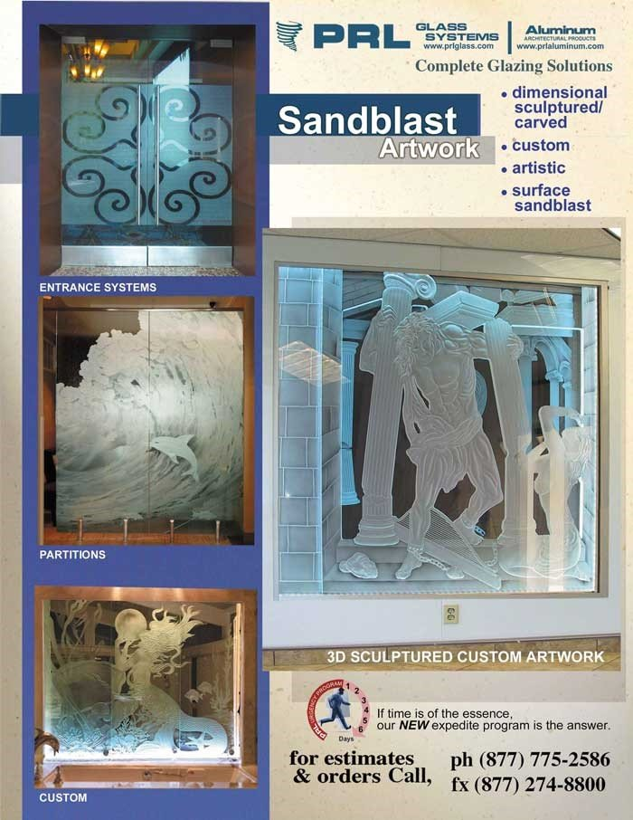 Sandblasted Glass Designs