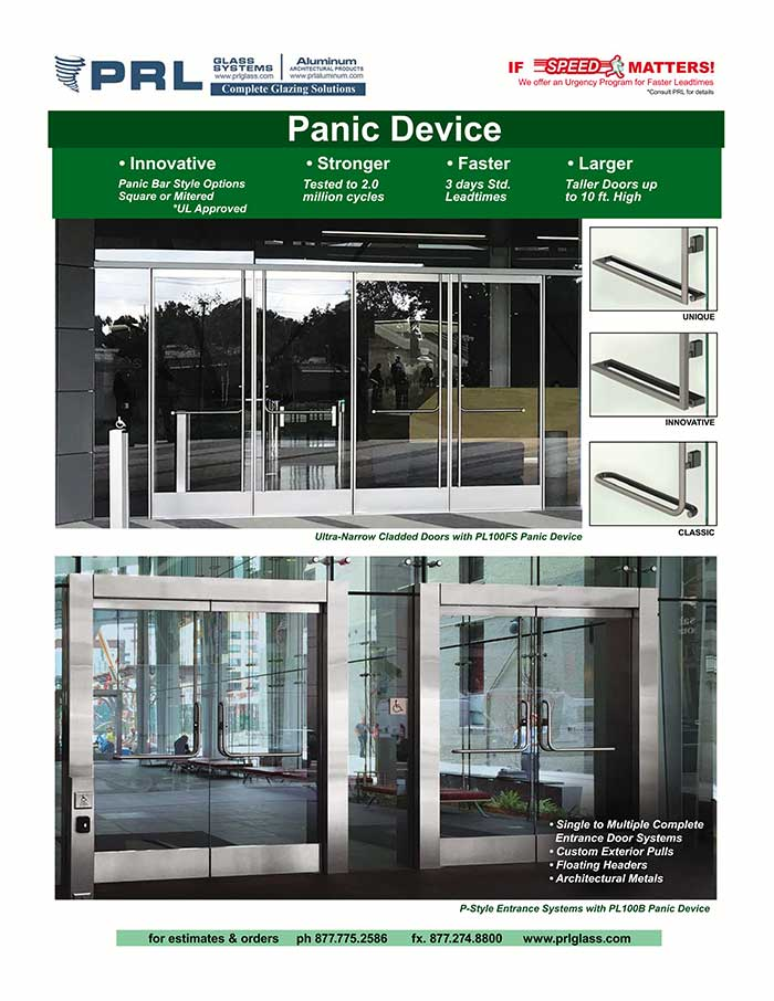 Storefront Panic Door Devices