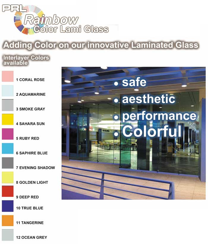 Laminated Color Glass Interlayers