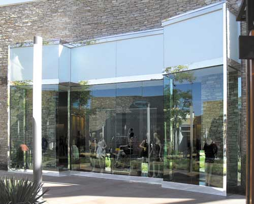 Laminated Privacy Glass Storefront