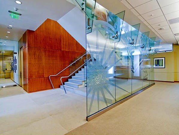 Sandblasted Glass Designs Custom