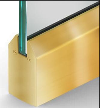Tapered Dryset Rail Brass
